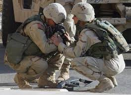 US Soldier Crying