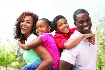 happy-Black family-smiling